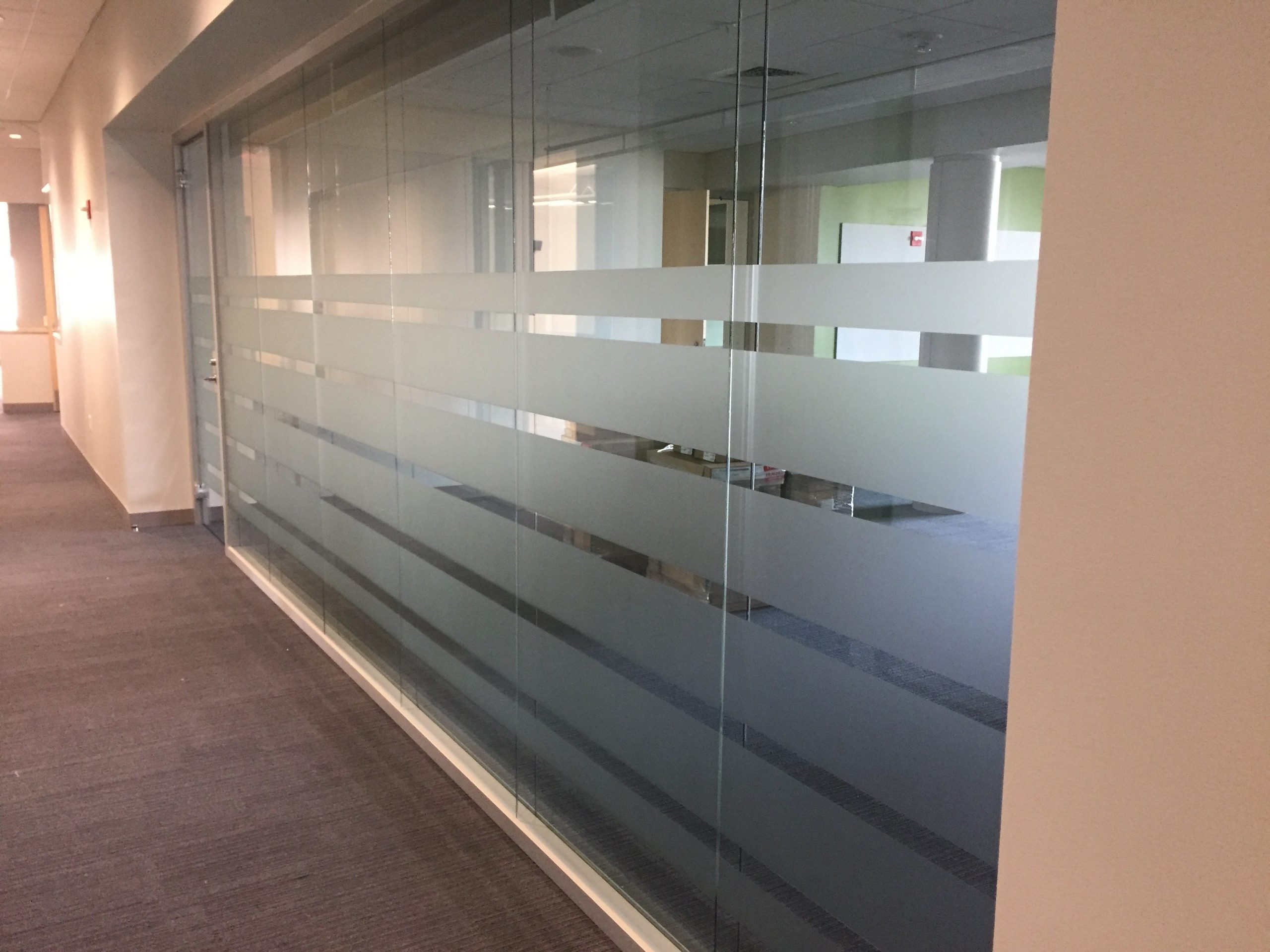 privacy window film in conference room