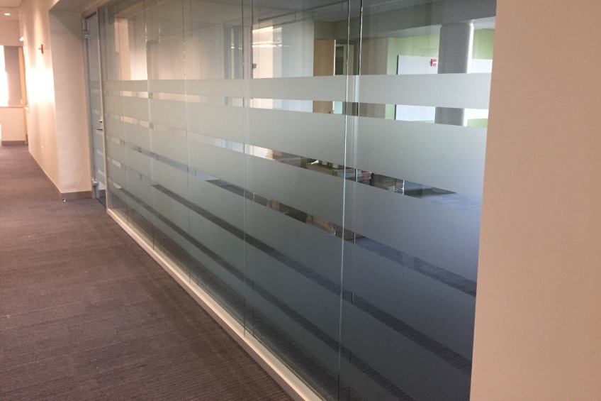 privacy window film in office