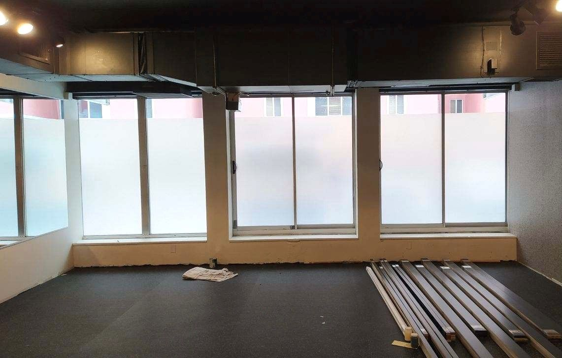 commercial window film installation