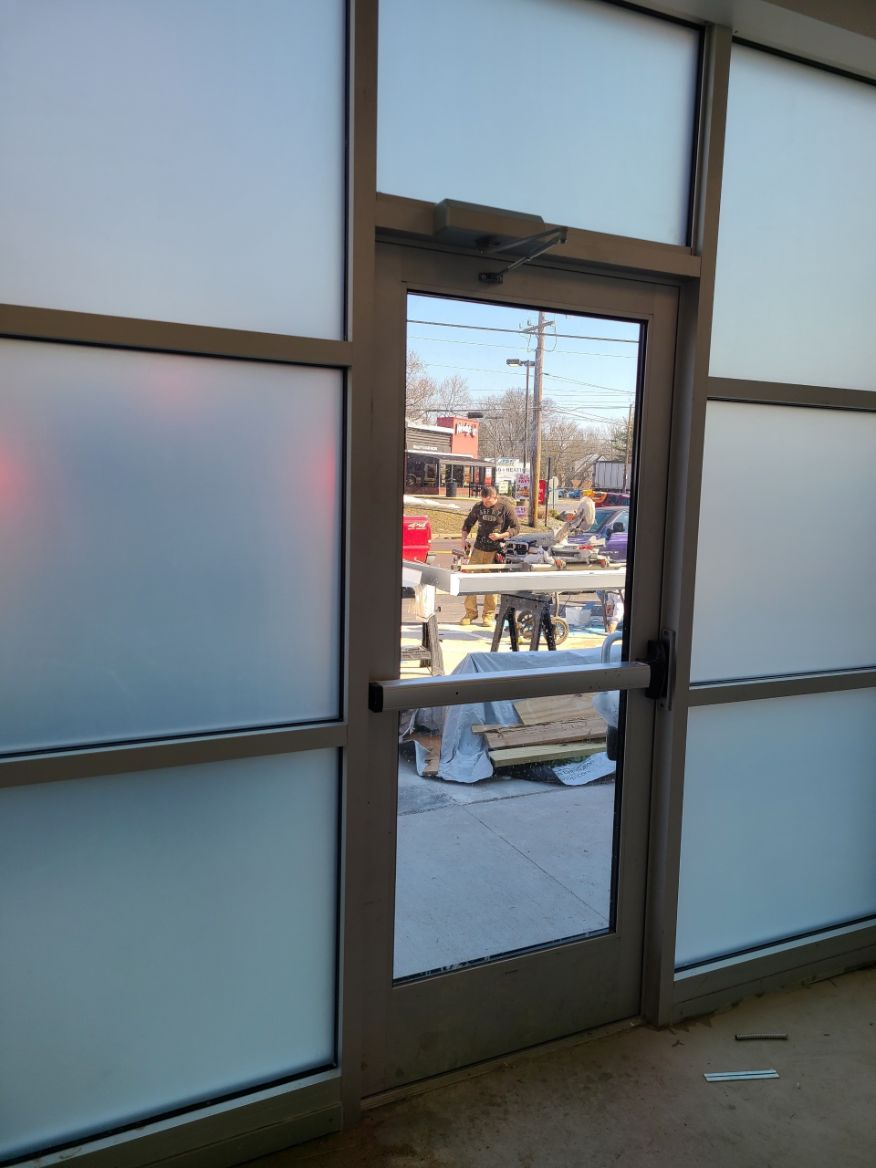 Chamonix window film applied to commercial space