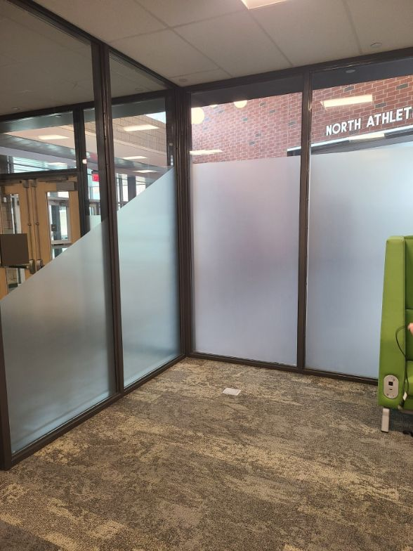 Decorative and Privacy Window Film applied at School Library