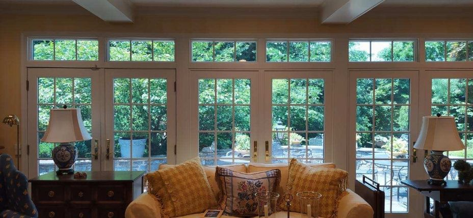 Night Vision Window Film installed to home windows and doors