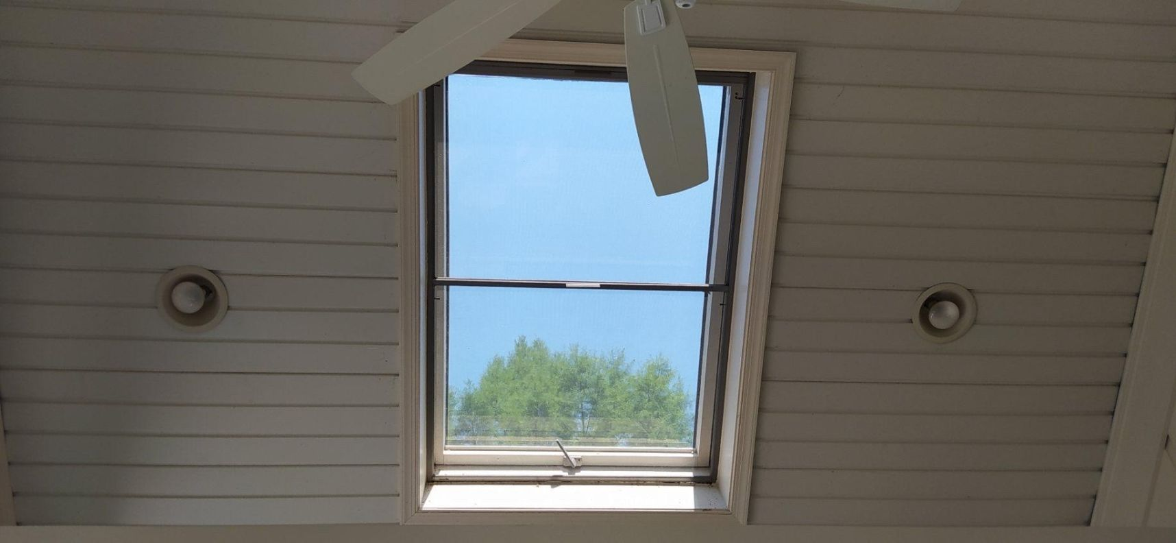 Night vision window film installed to skylight